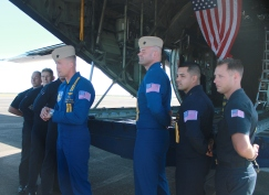 "The crew of the ""Fat Albert"" C-130"