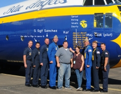 "Me and photographer Kar Hlava with the crew of ""Fat Albert"""